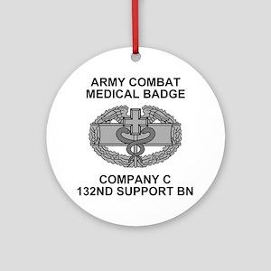 ARNG-132nd-Spt-Bn-Combat-Medical-Ba Round Ornament