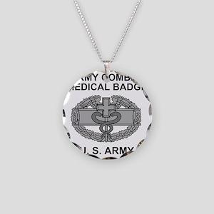 Army-Combat-Medic-Shirt Necklace Circle Charm