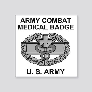 "Army-Combat-Medic-Shirt Square Sticker 3"" x 3"""