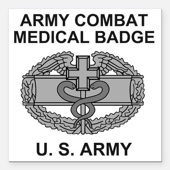"Army-Combat-Medic-Shirt. Square Car Magnet 3"" x 3"""