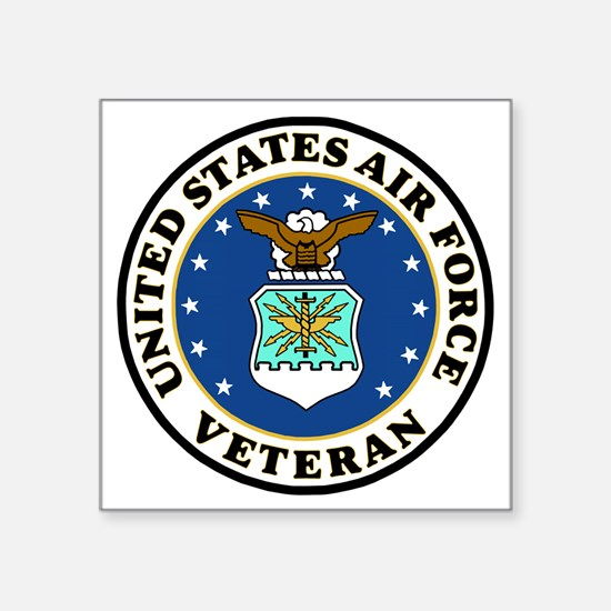 "USAF-Veteran-Bonnie-2.gif Square Sticker 3"" x 3"""
