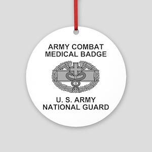 ARNG-Combat-Medic-Shirt Round Ornament