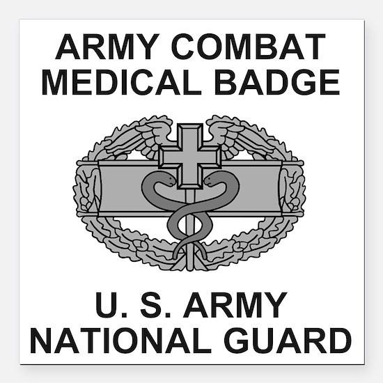 "ARNG-Combat-Medic-Shirt. Square Car Magnet 3"" x 3"""