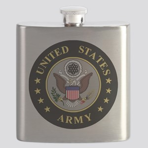 Army-Emblem-3-Black-Silver Flask