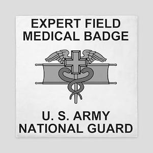 ARNG-Expert-Field-Medical-Badge-Shirt. Queen Duvet
