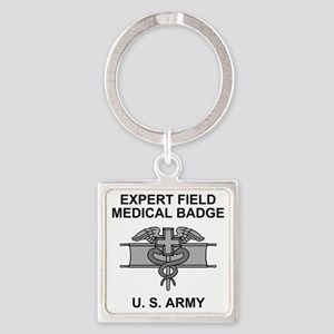 Army-Expert-Field-Medical-Badge-Sh Square Keychain