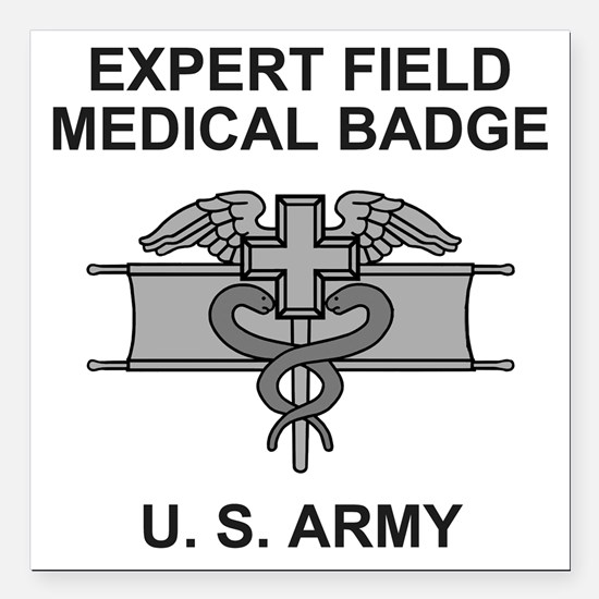 """Army-Expert-Field-Medica Square Car Magnet 3"""" x 3"""""""