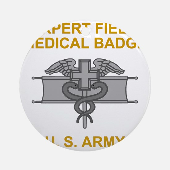 Army-Expert-Field-Medical-Badge-Bla Round Ornament