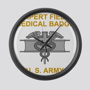 Army-Expert-Field-Medical-Badge-B Large Wall Clock