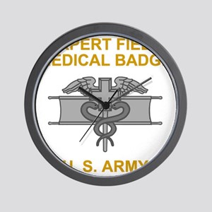 Army-Expert-Field-Medical-Badge-Black-S Wall Clock