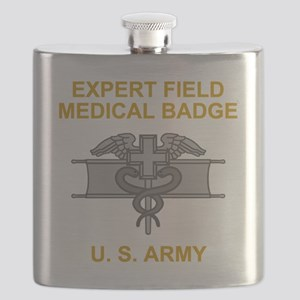 Army-Expert-Field-Medical-Badge-Black-Shirt Flask