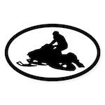 Snowmobile Oval Sticker