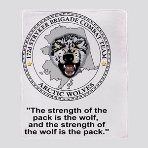 Army-172nd-Stryker-Bde-Arctic-Wolves Throw Blanket