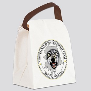 Army-172nd-Stryker-Bde-Arctic-Wol Canvas Lunch Bag