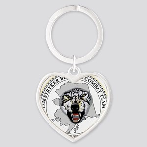Army-172nd-Stryker-Bde-Arctic-Wolve Heart Keychain