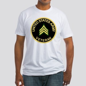 Army-Veteran-Sgt-Black Fitted T-Shirt