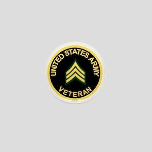 Army-Veteran-Sgt-Black Mini Button