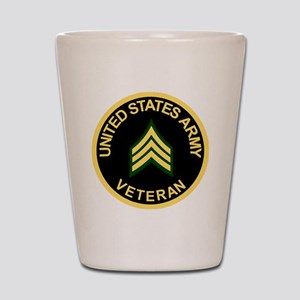 Army-Veteran-Sgt-Black Shot Glass