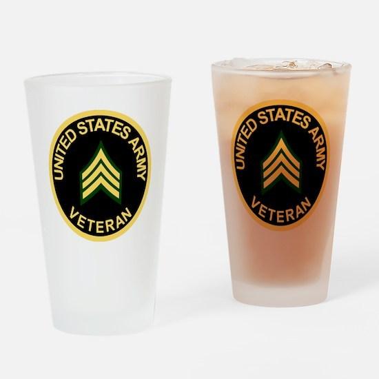 Army-Veteran-Sgt-Black.gif Drinking Glass