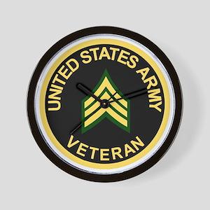 Army-Veteran-Sgt-Black Wall Clock