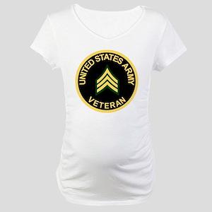 Army-Veteran-Sgt-Black Maternity T-Shirt