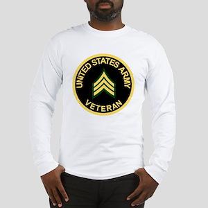 Army-Veteran-Sgt-Black Long Sleeve T-Shirt
