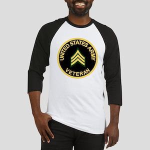 Army-Veteran-Sgt-Black Baseball Jersey