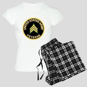 Army-Veteran-Sgt-Black Women's Light Pajamas