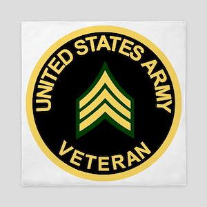 Army-Veteran-Sgt-Black Queen Duvet