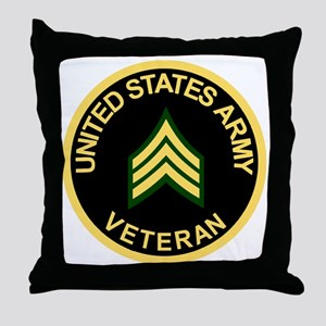 Army-Veteran-Sgt-Black Throw Pillow