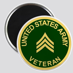 Army-Veteran-Sgt-Green Magnet