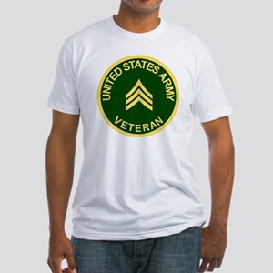 Army-Veteran-Sgt-Green Fitted T-Shirt