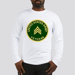 Army-Veteran-Sgt-Green Long Sleeve T-Shirt