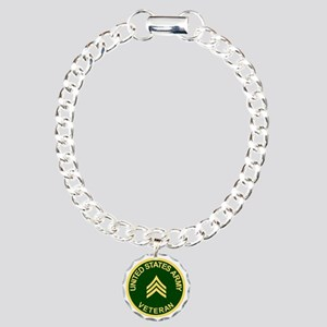 Army-Veteran-Sgt-Green.g Charm Bracelet, One Charm
