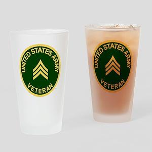 Army-Veteran-Sgt-Green Drinking Glass