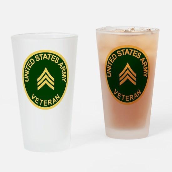 Army-Veteran-Sgt-Green.gif Drinking Glass
