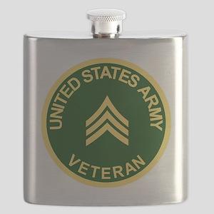Army-Veteran-Sgt-Green Flask