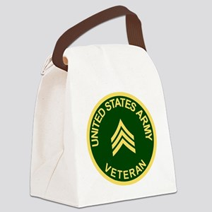 Army-Veteran-Sgt-Green Canvas Lunch Bag