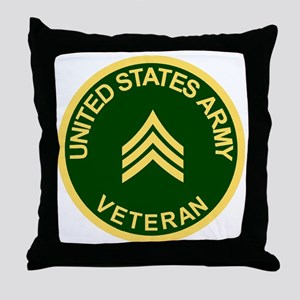 Army-Veteran-Sgt-Green Throw Pillow