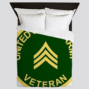 Army-Veteran-Sgt-Green Queen Duvet