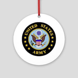 Army-Emblem3X-To-Match-Emblem4 Round Ornament