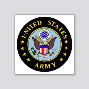 "Army-Emblem3X-To-Match-Embl Square Sticker 3"" x 3"""