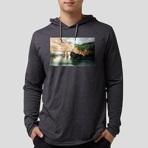 Maiden rock - Mississippi River - 1910 Mens Hooded