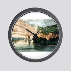 Maiden rock - Mississippi River - 1910 Wall Clock