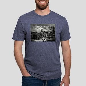 Melrose Abbey - 1862 Mens Tri-blend T-Shirt