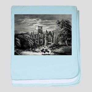 Melrose Abbey - 1862 baby blanket