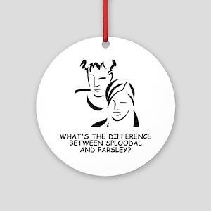 Sploodal-Parsley-1 Round Ornament