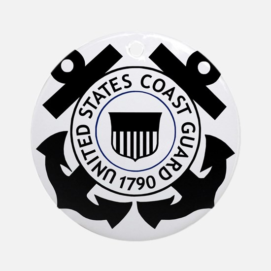 USCG-Logo-2-Black.g... Round Ornament