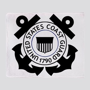 USCG-Logo-2-Black.g... Throw Blanket