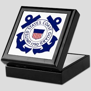 USCG-Logo-2-Blue.gi... Keepsake Box